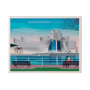 Postal de Madera Museo Guggenheim