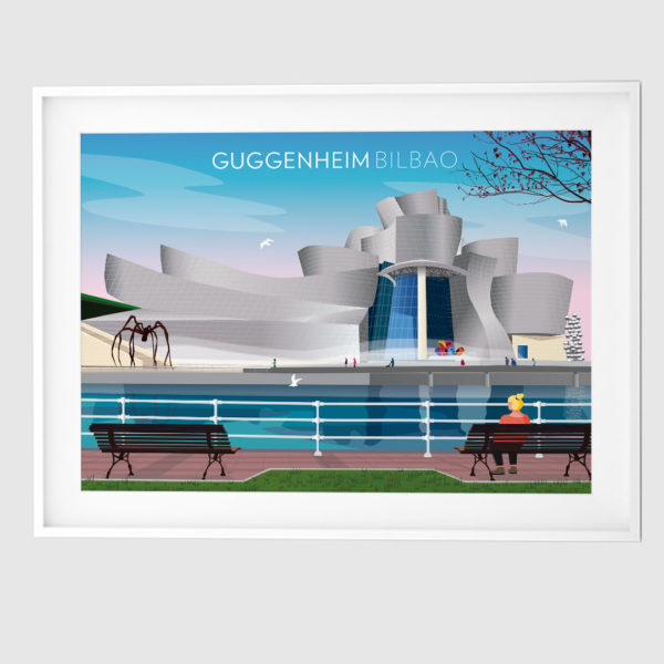 Lámina con la imagen del Museo Guggenheim Bilbao