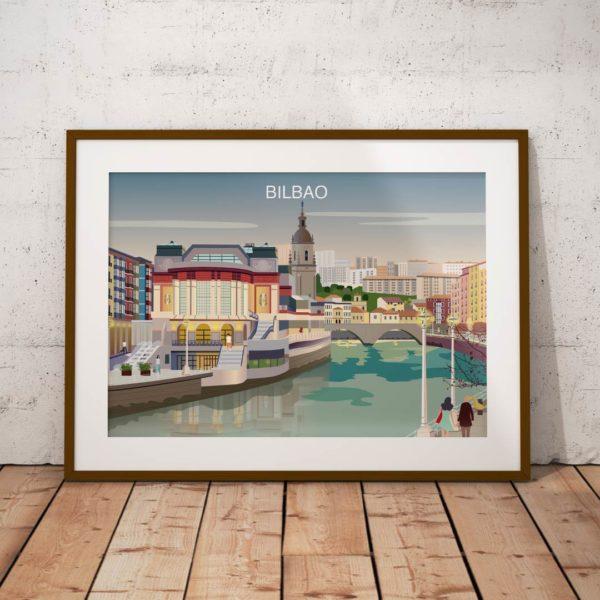 Póster del Mercado de la Ribera de Bilbao
